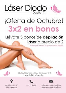 Oferta depilación láser octubre 2018