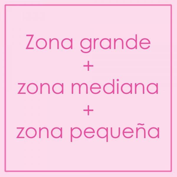 Zona grande + zona mediana + zona pequeña