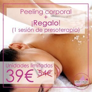 Peeling corporal + presoterapia (gratis)